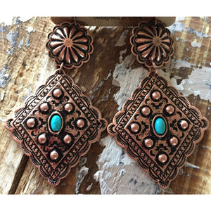 Tara's Turquoise and Copper Earrings