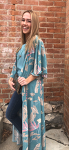 The Garden Party Mint Floral Duster