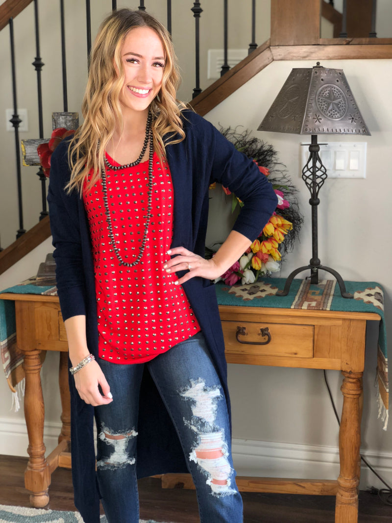 The Navy Dancer Sweater Cardigan