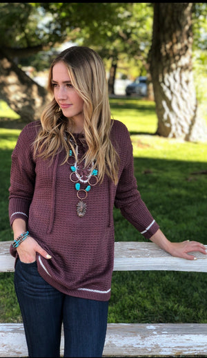 The Farmington Lace Up Sweater