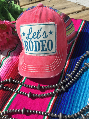 Let's Rodeo Serape Cap