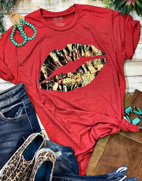 Kiss This Foil Red Lips 👄 Tee