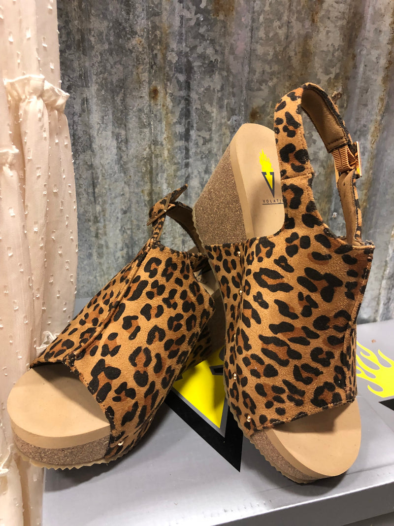 The Zenobi Cheetah Wedge Sandal