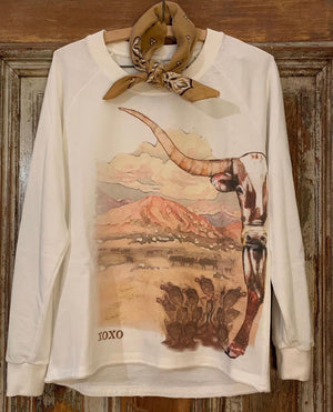 The Wild Desert Longhorn Long Sleeve Tee