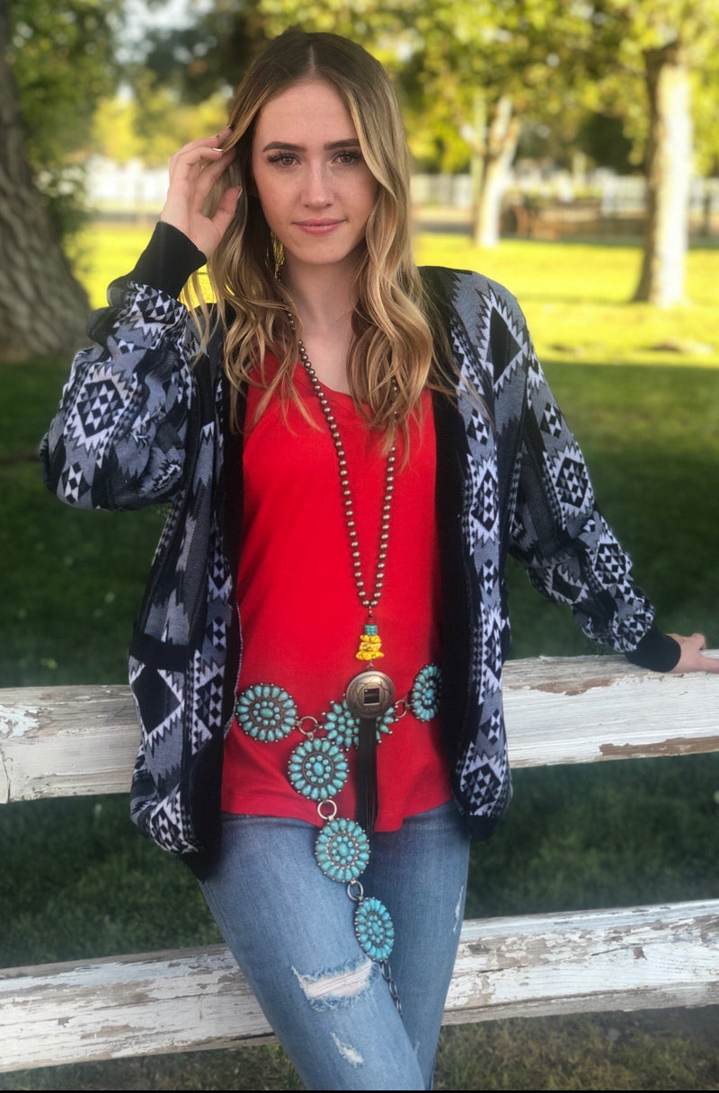 The Touolumne River Aztec Cardigan