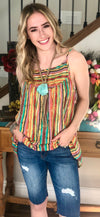 The Alamo Serape Stripe Tank