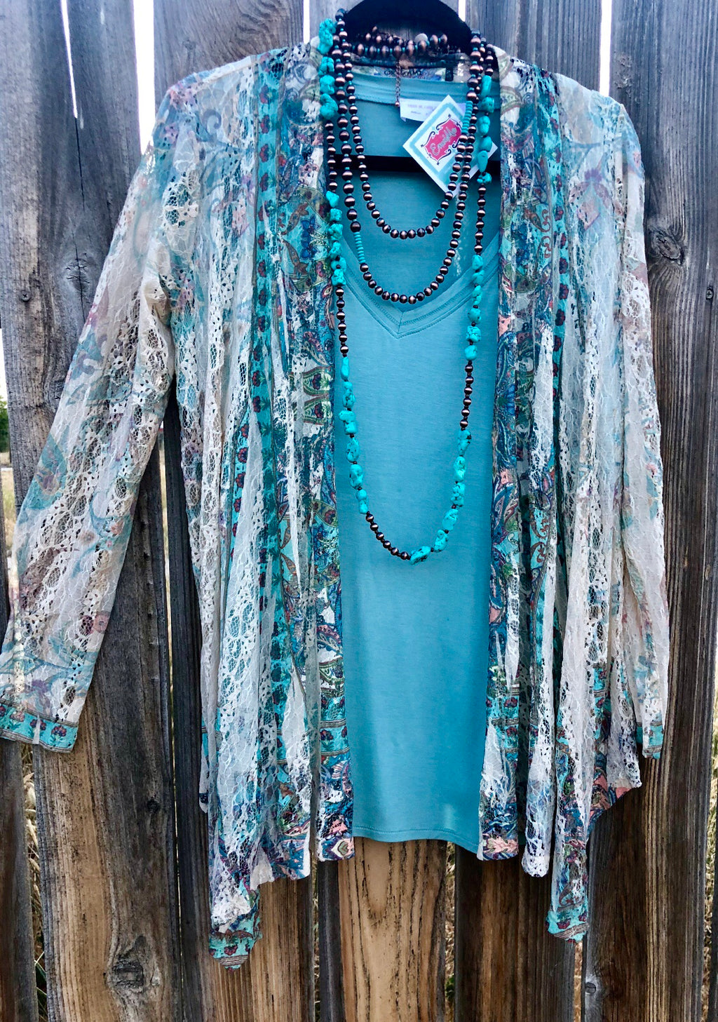The Oceanside Lace Kimono