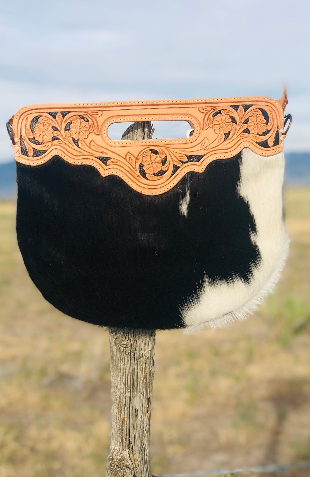 The Salina Cowhide Clutch Bag