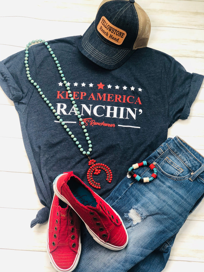 "The Navy ""Keep America Ranching"" Tee"