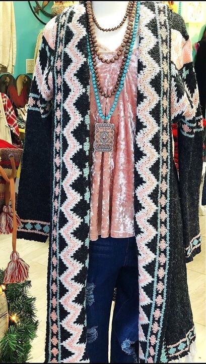 The Belle Star Tribal Cardigan