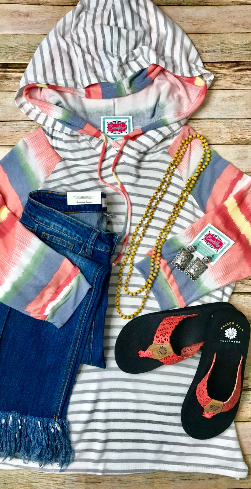 The Sarasota Striped Serape Top