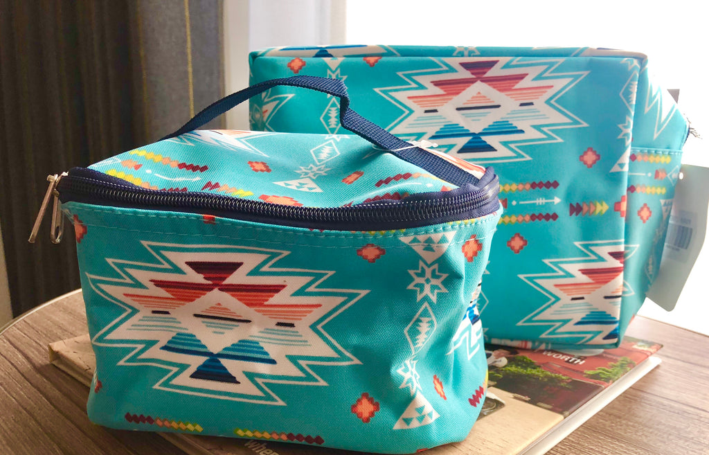 Turquoise Tribal Make up Bags!
