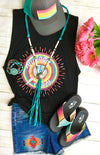 The Black Vintage Vibes Tank