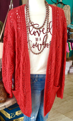 Our Fav Cable Knit Cardi