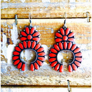 Turquoise or Coral Squash Earrings