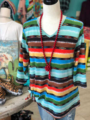 The Sangria Serape Top