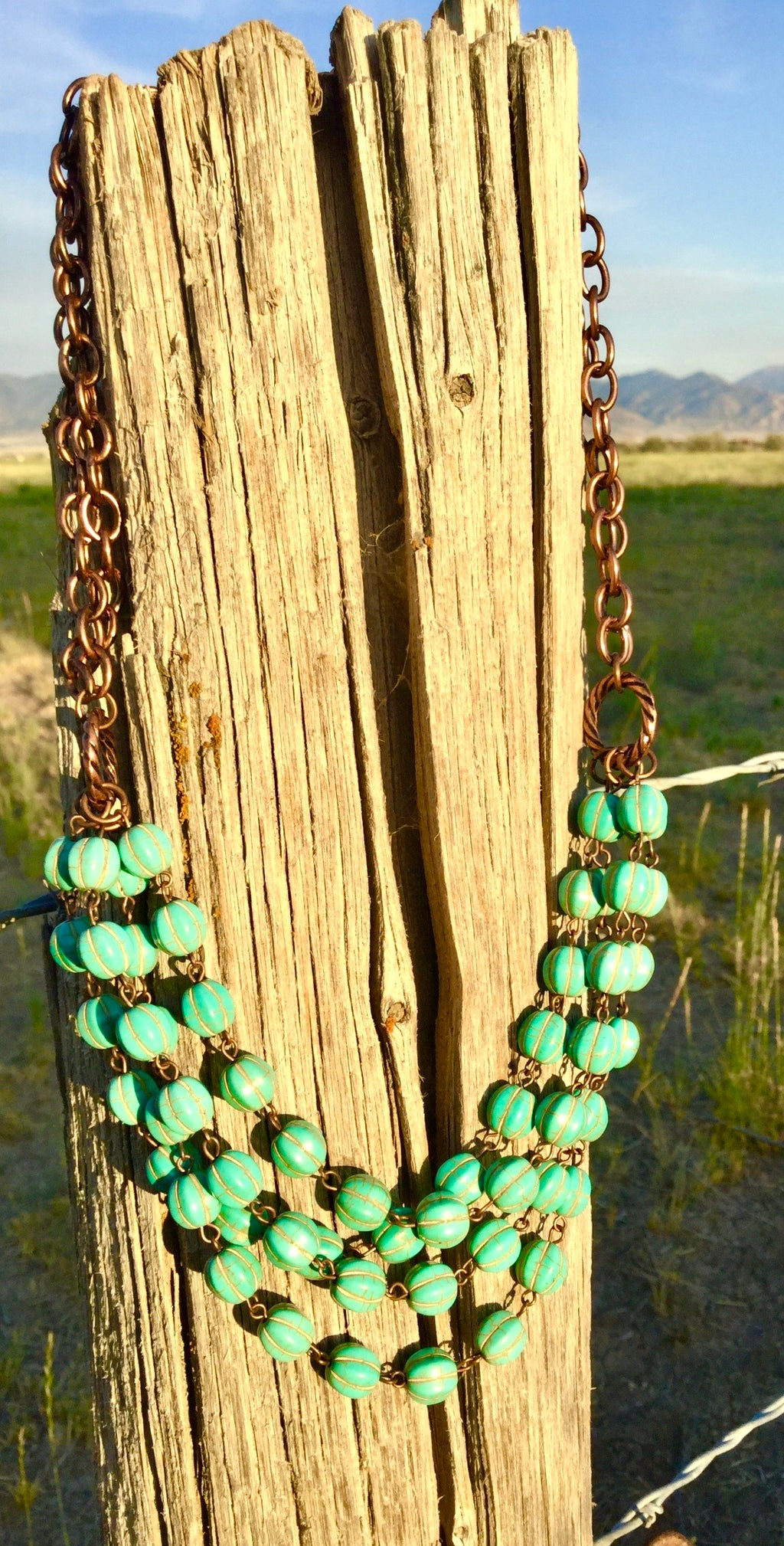 The ConTera Copper and Pumpkin Turquoise Necklace