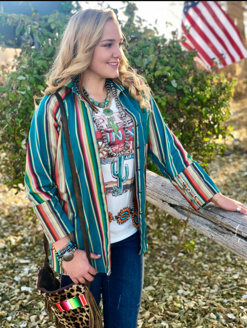 The Sherwood Serape Tunic