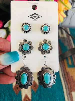 The Silver City Turquoise Earring Set