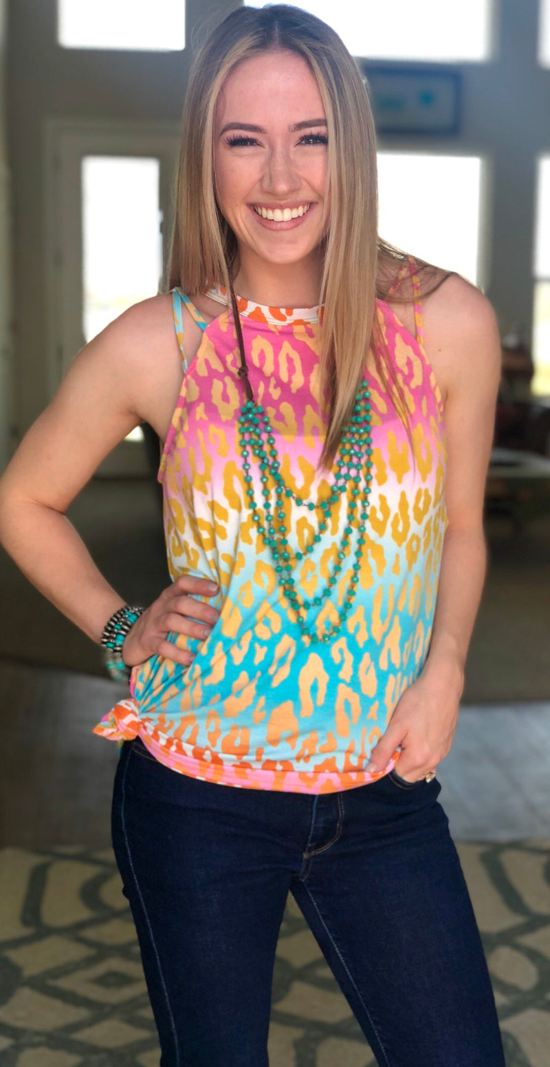 The Neon Cheetah Strappy Tank