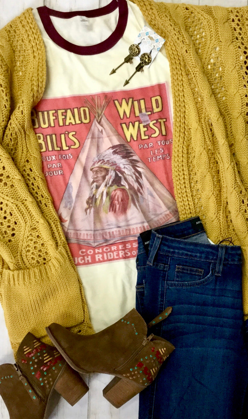 The Wild West Buffalo Ringer Tee