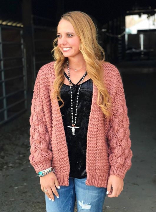 The Georgia Puffy Sleeve Sweater