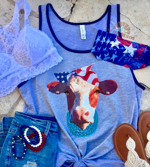 Miss USA Cow Bandana Tank