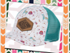 STS Watercolor Floral Donkey Cap