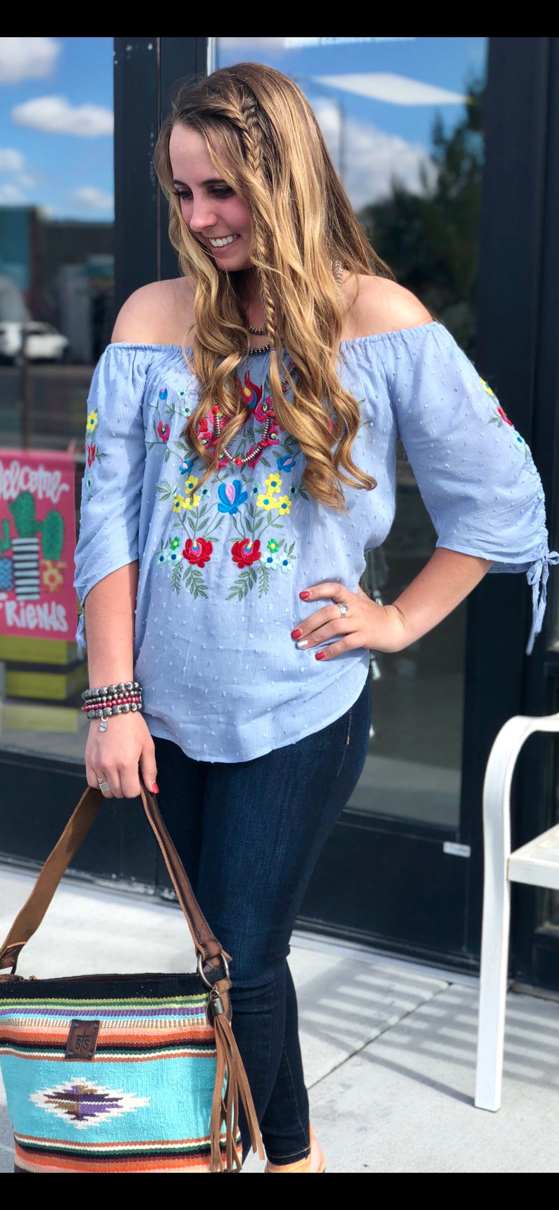 The Fieri Flower Embroidered Top
