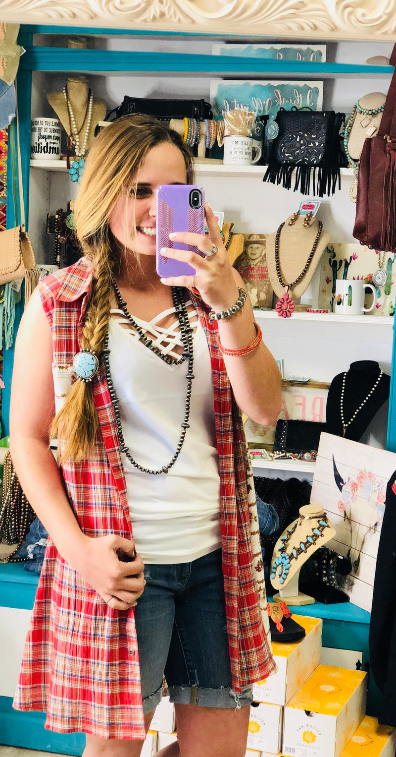 The West of The Rockies Plaid Vest