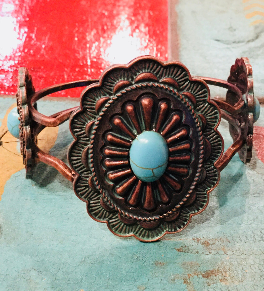 The Cottonwood Concho Bracelet