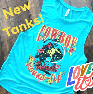 The Sea Green Cowboy Roundup Tank