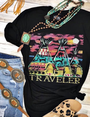The Traveler Teepee Tee