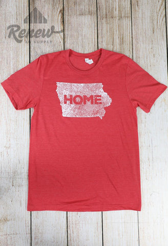 Adult Home Tee-Red/White
