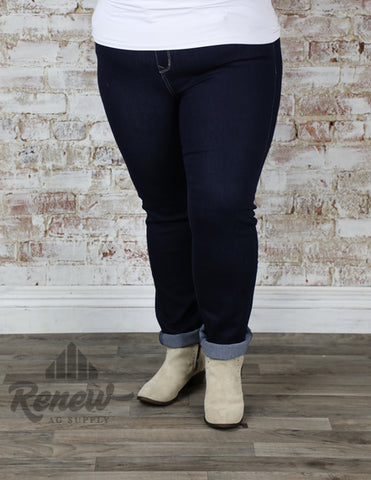 PN-51147: Plus Size Grace in LA Plain Pocket Skinnies