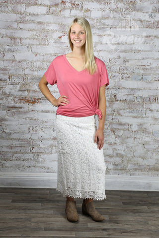 10017113-Ariat White Lace Skirt