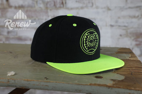 MCC0608903-Boy's Cinch Neon Yellow Snapback Hat