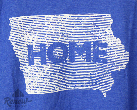 Adult Home Tee- Blue/White