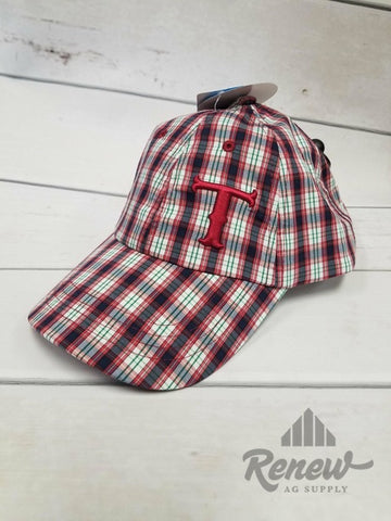 1588404: Youth Twister Red Plaid Hat