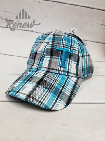 1588627: Youth Twister Blue Plaid Hat