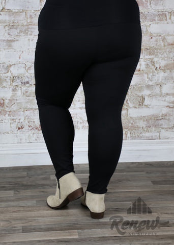 SP2953- Plus Size Black Jeggings