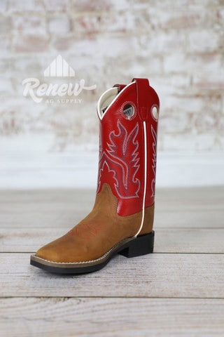 BSC1883- Old West Children Red Boots