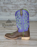 MHY0013- Men's Purple Hooey Boots