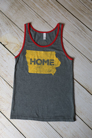Adult Home Tank: GreyRed/Yellow