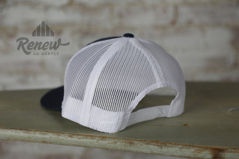 1005T-NW: Men's Hooey Cody Ohl Navy Blue and White MeshBack Hat