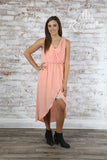 LWD604K-Wrangler Peach Chiffon Dress