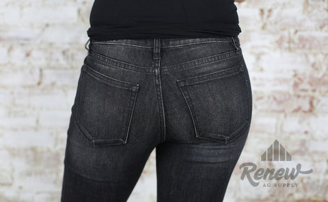 M1001S45: Miss Me Charcoal Grey Skinnies
