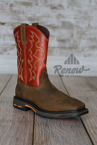 10005888- Men's Orange Ariat Workhogs