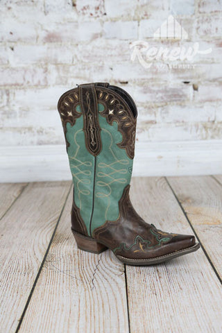10015347- Women's Teal Zealous Ariat Boots