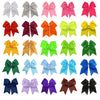 "Cheer Bow for Girls 7"" Large Hair Bows with Clip Holder You Pick Colors & Quantities"